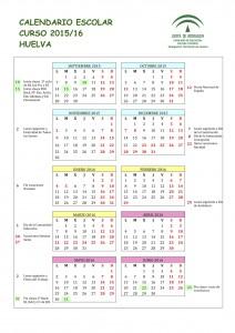 calendario escolar huelva 2015-2016